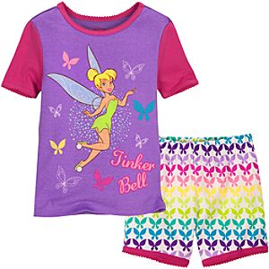 Short Tinker Bell PJ Pal for Girls