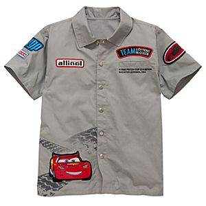 Team Lightning McQueen Cars 2 Mechanic Shirt for Boys