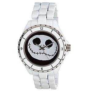 White Metal Link Jack Skellington Watch