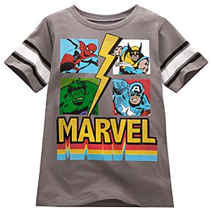 Four Heroes Marvel Tee