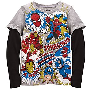 Double-Up Long Sleeve Marvel Tee