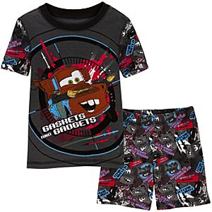 Short Finn McMissile and Tow Mater Disney Cars 2 PJ Pal for Boys