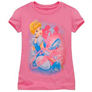 Glitter Cinderella Tee for Girls -- Made With Organic Cotton