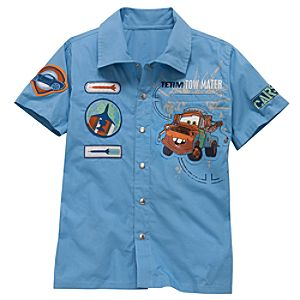 Team Tow Mater Cars 2 Mechanic Shirt for Boys