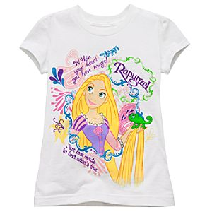 Glitter Rapunzel Tee for Girls -- Made With Organic Cotton
