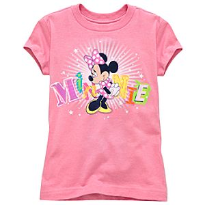 Glitter Minnie Mouse Tee for Girls -- Made With Organic Cotton