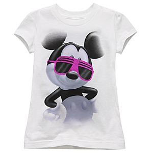 Glitter Mickey Mouse Tee for Girls -- Made With Organic Cotton