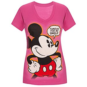 V-Neck Mickey Mouse Tee for Women -- Made With Organic Cotton