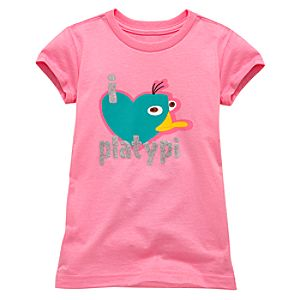 I Heart Platypi Perry Tee for Girls -- Made With Organic Cotton