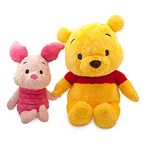Winnie the Pooh and Piglet Anime Plush Set - Extra Large - 28''