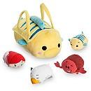 Little Mermaid ''Tsum Tsum'' Plush Set - Small Bag - 8'' - 4 Minis - 3 1/2''