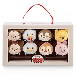 Mickey Mouse Valentine Candy Box ''Tsum Tsum'' Plush Set - Mini - 3 1/2''