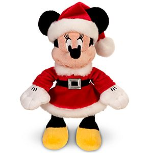 Mrs. Claus Minnie Mouse Mini Bean Bag Plush Toy -- 10 H