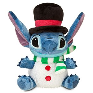 Snowman Stitch Mini Bean Bag Plush Toy -- 8 H