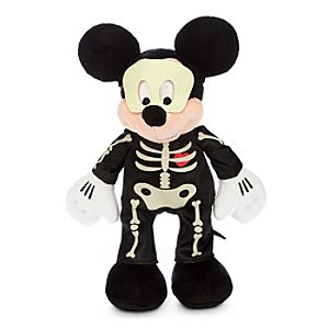 Mickey Mouse Skeleton Plush - Halloween - Small - 12''