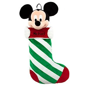 Mickey Mouse Plush Stocking - Holiday - Personalizable - 23''