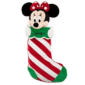 Minnie Mouse Plush Stocking - Holiday - Personalizable - 23 1/2''