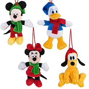 Share the Magic Mickey Mouse Plush Ornament Set -- 4-Pc.