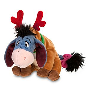 Santas Reindeer Eeyore Mini Bean Bag Plush Toy -- 7 H