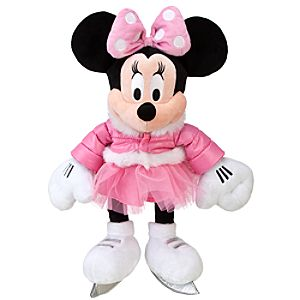 2011 Ice Skating Minnie Mouse Plush Toy -- 20 H