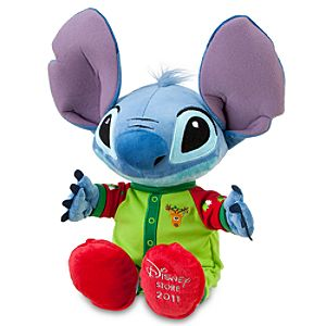 2011 Holiday Pajamas Stitch Plush Toy -- 19 H
