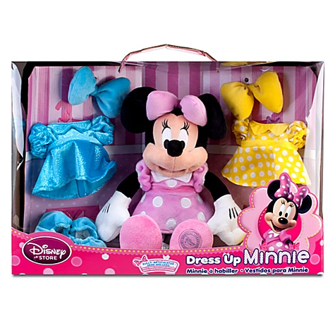 Nib Disney Dress Up 14 Inch Minnie Mouse Plush Doll With 3