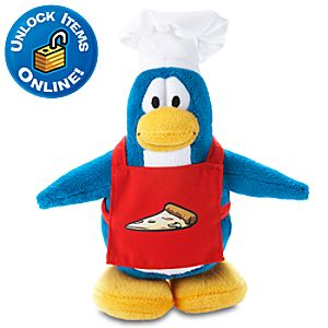 Club Penguin 6 Penguin Plush -- Pizza Chef