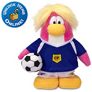Club Penguin 6 Penguin Plush -- Soccer Girl