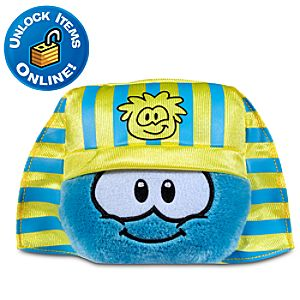 Club Penguin 3 Blue Pet Puffle with Pharaoh Hat