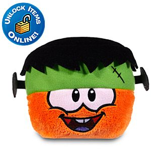 Club Penguin 3 Orange Pet Puffle with Franken Hat