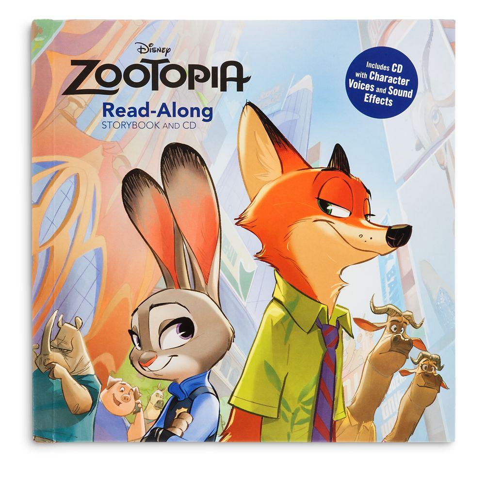 zootopia疯狂动物城卡通故事书+cd