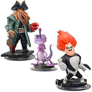 Disney Infinity Villains Figure Set - Davy Jones, Randy and Syndrome