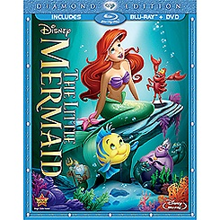 The Little Mermaid 2-Disc Combo Pack with FREE Lithograph Set Offer - Pre-Order