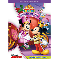 Mickey Mouse Clubhouse Minnie-Rella DVD + Castle Pop-Up Play Set