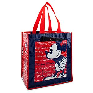 Reusable Red, White and Blue Mickey Mouse Tote