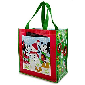 Reusable Holiday Minnie and Mickey Mouse Tote