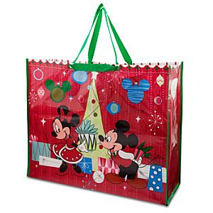 Mickey and Minnie Mouse Reusable Tote - Holiday - Extra Large