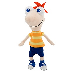 Mini Bean Bag Phineas Plush Toy -- 10'' H