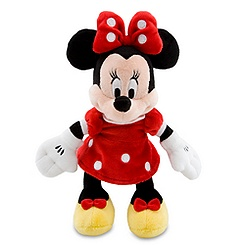 Minnie Mouse Plush - Red Mini Bean Bag - 9 1/4''