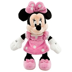 Minnie Mouse Plush - Pink Mini Bean Bag - 9 1/4''
