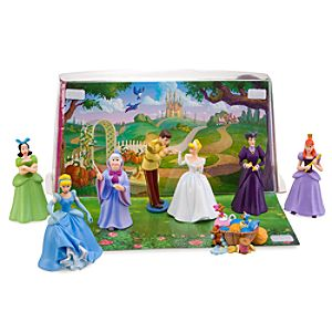 Cinderella Figure Play Set -- 8-Pc.