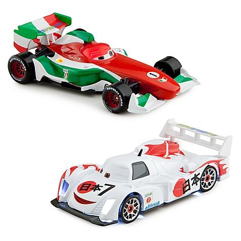 Light-Up Racing Rivals Cars 2 Die Cast Set #3 -- Francesco Bernoulli vs. Shu Todoroki