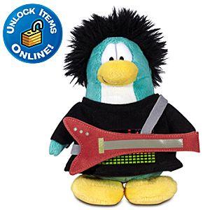 Club Penguin 6 Limited Edition Penguin Plush -- New Rocker