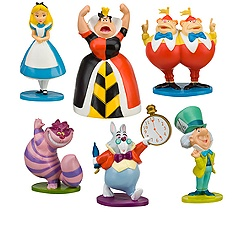 Alice in Wonderland Figure Play Set