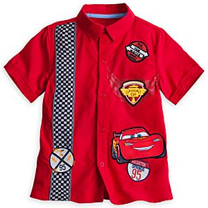 Lightning McQueen Mechanic Shirt for Boys
