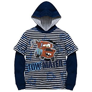 Hooded Double-Up Long Sleeve Tow Mater Tee for Boys