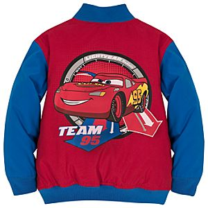 Personalizable Lightning McQueen Varsity Jacket for Boys