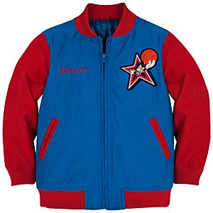Personalizable Basketball Mickey Mouse Varsity Jacket for Boys