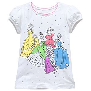 Rhinestone Disney Princess Tee for Girls