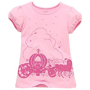 Pumpkin Carriage Cinderella Tee for Girls